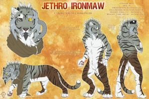 Jethro Ironmaw Reference Sheet by Idess