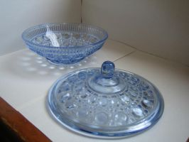 blue glass bowl stock 2 by Stock-Tenchigirl15