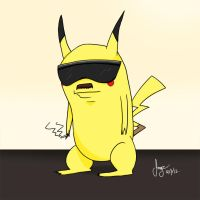 Smoker Pikachu by joogz