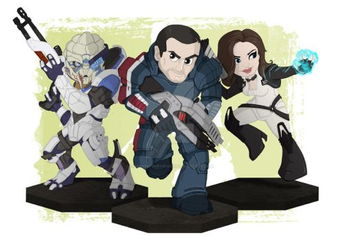 Philippines Commission #9 #10 #11 - Mass Effect by happymonkeyshoes