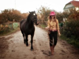She rode a horse into my head by Valcom2the