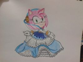 Amy Rose: Lady of the Lake (2015 Drawing) by AyanoHiMe