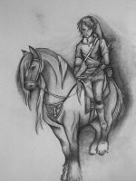 Link and Epona by Morna