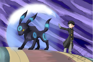 Umbreon and Arcanine Battle 01 by CreativeDemi64
