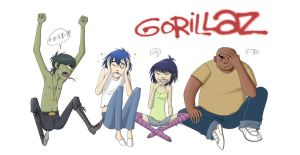 Gorillaz by RavenAnime