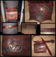 Fairy and butterfly belt bag by akinra-workshop