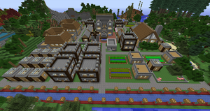 Old Village by ColtCoyote: Completed and Populated by LizC864
