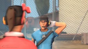 SFM Poster: The Nervous Scout by PatrickJr