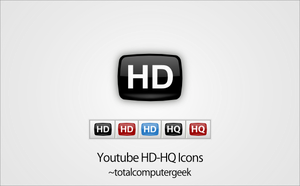 Youtube HD-HQ Icons by totalcomputergeek