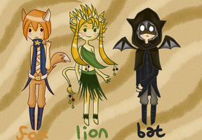 Gijinka Adoptables  -  only one left! by sesquipedaliophobiac