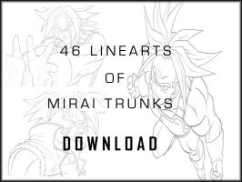 Mirai Trunks Linearts Set by carapau