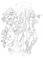Marvel Girls Commission by mikebowden