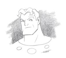 Flash Gordon Sketch by LostonWallace