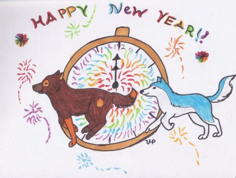 Happy New Year - copics by TigerOtter7