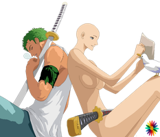 Zoro Couple Base Eight by RainDrops212