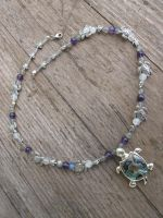 Silver and Shell Turtle Necklace by Windthin