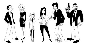 Lie To Me lineup by captainashletART