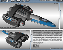 Great Space Race - Aquamarine Mk. 2 by TurinuZ