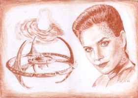 Jadzia Dax and DS9 by Woolf20