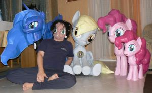 Papercraft Overview my little pony by Znegil