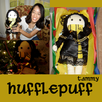 HP: Tam's Hufflepuff Rag Doll by OneWingedMuse