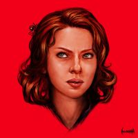 Scarlett Johansson as Black Widow by JamesBousema