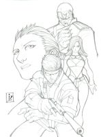 Snake Eater Pencils by arsenalgearxx