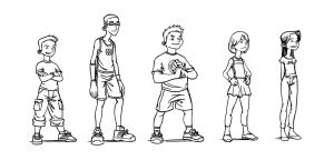 Character Design 3 Inks by ahmettorun