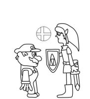 Mario and Link by albert99