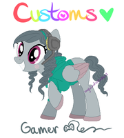 My Little Customs - Gamer Mare Custom! by MyLilAdoptables