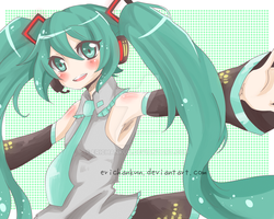 Vocaloid: Miku Hatsune by erichankun