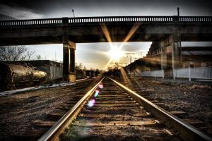A Train a'Coming by CPDigitalDarkroom