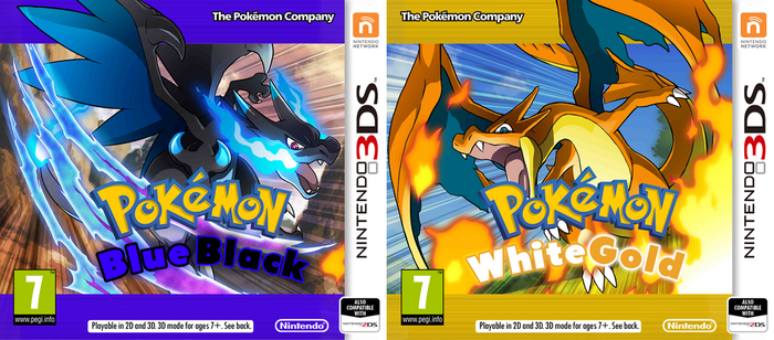 Nintendo 3DS Pokemon BlueBlack or WhiteGold Cover by PatrickWCity