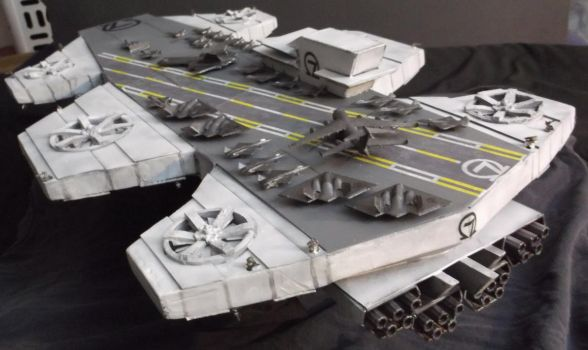 Columbia Helicarrier Model-2015-2 by Roguewing