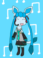 Hatsune Glaceon by Leafeon14