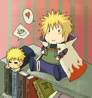 Yondaime and Naruto plushies by demonred21