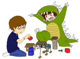 .::And Then Comes the Dinosaur!::. by Scoric