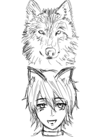 A Wolf and Her Boy (WIP, CHAPTER COVER) by CaptainCervantes