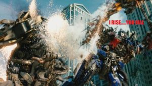 Optimus Kills Megatron TF 3 by vaderandrew