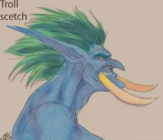 Troll head - scetch by atryl