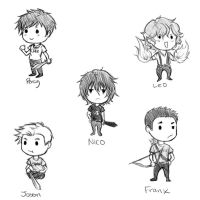Greek and roman guys (chibi) by Amigo12
