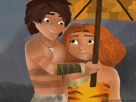 In the Rain (Croods) by GDSCorinne
