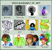 2014 Art Summary by spacemerperson