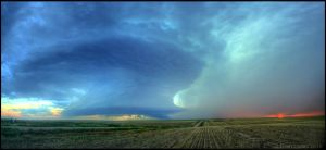 Supercell vs. Sun by FramedByNature