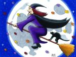 Witch Flying on a Broom in the Autumn by WalterRingtail