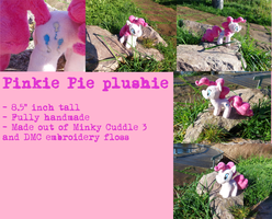 8.5 inch handmade Pinkie pie (COMMISSIONS OPENED) by PeanutEaterRel