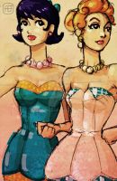 Betty and Wilma by yureisan