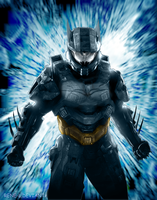 Halo goes BATMAN the Dark Knight by Rene-L