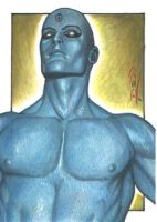 Dr Manhattan - Sketch Card by J-Redd