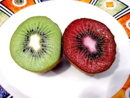 Green and Red Kiwi By ShadowTutorials by zarodas